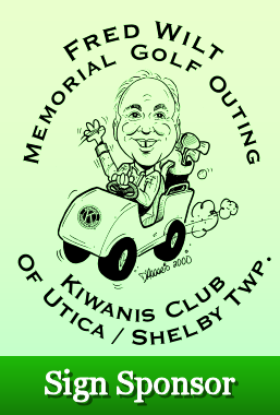 Fred Wilts Memorial Golf - Utica Shelby Kiwanis - Sign Sponsor